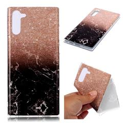 Glittering Rose Black Soft TPU Marble Pattern Case for Samsung Galaxy Note 10 (6.28 inch)