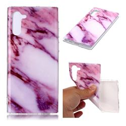 Purple Soft TPU Marble Pattern Case for Samsung Galaxy Note 10 (6.28 inch)