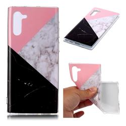 Tricolor Soft TPU Marble Pattern Case for Samsung Galaxy Note 10 (6.28 inch)