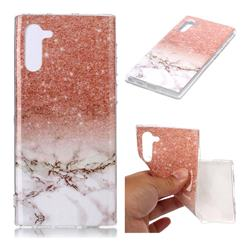 Glittering Rose Gold Soft TPU Marble Pattern Case for Samsung Galaxy Note 10 (6.28 inch)