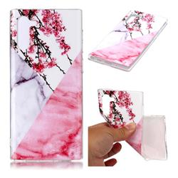 Pink Plum Soft TPU Marble Pattern Case for Samsung Galaxy Note 10 (6.28 inch)