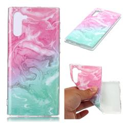 Pink Green Soft TPU Marble Pattern Case for Samsung Galaxy Note 10 (6.28 inch) / Note10 5G