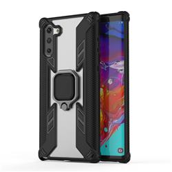 Predator Armor Metal Ring Grip Shockproof Dual Layer Rugged Hard Cover for Samsung Galaxy Note 10 (6.28 inch) - Black