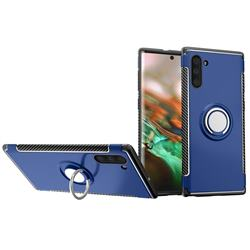 Armor Anti Drop Carbon PC + Silicon Invisible Ring Holder Phone Case for Samsung Galaxy Note 10 (6.28 inch) / Note10 5G - Sapphire