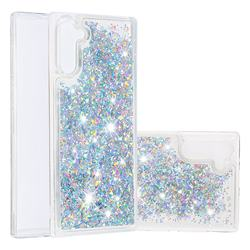 Dynamic Liquid Glitter Quicksand Sequins TPU Phone Case for Samsung Galaxy Note 10 (6.28 inch) / Note10 5G - Silver