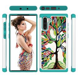 Multicolored Tree Shock Absorbing Hybrid Defender Rugged Phone Case Cover for Samsung Galaxy Note 10 (6.28 inch) / Note10 5G