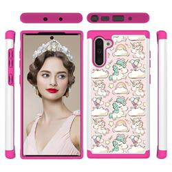 Pink Pony Shock Absorbing Hybrid Defender Rugged Phone Case Cover for Samsung Galaxy Note 10 (6.28 inch) / Note10 5G