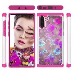 peony Flower Shock Absorbing Hybrid Defender Rugged Phone Case Cover for Samsung Galaxy Note 10 (6.28 inch) / Note10 5G