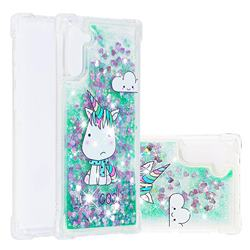 Tiny Unicorn Dynamic Liquid Glitter Sand Quicksand Star TPU Case for Samsung Galaxy Note 10 (6.28 inch) / Note10 5G