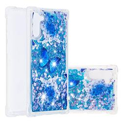Flower Butterfly Dynamic Liquid Glitter Sand Quicksand Star TPU Case for Samsung Galaxy Note 10 (6.28 inch) / Note10 5G