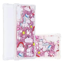 Angel Pony Dynamic Liquid Glitter Sand Quicksand Star TPU Case for Samsung Galaxy Note 10 (6.28 inch) / Note10 5G