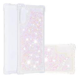 Dynamic Liquid Glitter Sand Quicksand TPU Case for Samsung Galaxy Note 10 (6.28 inch) / Note10 5G - Silver Powder Star