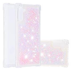 Dynamic Liquid Glitter Sand Quicksand Star TPU Case for Samsung Galaxy Note 10 (6.28 inch) / Note10 5G - Pink