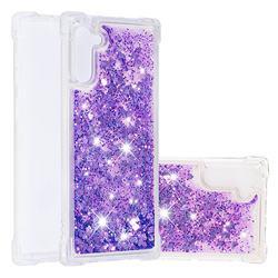 Dynamic Liquid Glitter Sand Quicksand Star TPU Case for Samsung Galaxy Note 10 (6.28 inch) / Note10 5G - Purple