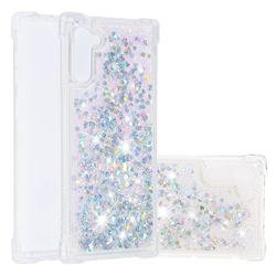 Dynamic Liquid Glitter Sand Quicksand Star TPU Case for Samsung Galaxy Note 10 (6.28 inch) / Note10 5G - Silver