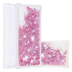 Dynamic Liquid Glitter Sand Quicksand Star TPU Case for Samsung Galaxy Note 10 (6.28 inch) / Note10 5G - Diamond Rose
