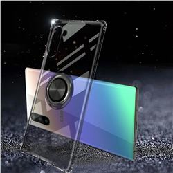 Anti-fall Invisible Press Bounce Ring Holder Phone Cover for Samsung Galaxy Note 10 (6.28 inch) / Note10 5G - Elegant Black