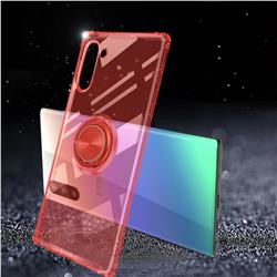 Anti-fall Invisible Press Bounce Ring Holder Phone Cover for Samsung Galaxy Note 10 (6.28 inch) / Note10 5G - Noble Red
