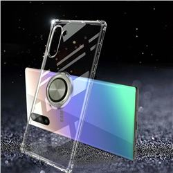 Anti-fall Invisible Press Bounce Ring Holder Phone Cover for Samsung Galaxy Note 10 (6.28 inch) / Note10 5G - Transparent