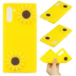 Yellow Sunflower Soft 3D Silicone Case for Samsung Galaxy Note 10 (6.28 inch) / Note10 5G