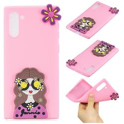 Violet Girl Soft 3D Silicone Case for Samsung Galaxy Note 10 (6.28 inch)