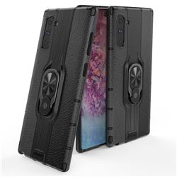 Alita Battle Angel Armor Metal Ring Grip Shockproof Dual Layer Rugged Hard Cover for Samsung Galaxy Note 10 (6.28 inch) / Note10 5G - Black