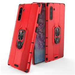Alita Battle Angel Armor Metal Ring Grip Shockproof Dual Layer Rugged Hard Cover for Samsung Galaxy Note 10 (6.28 inch) / Note10 5G - Red