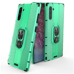 Alita Battle Angel Armor Metal Ring Grip Shockproof Dual Layer Rugged Hard Cover for Samsung Galaxy Note 10 (6.28 inch) / Note10 5G - Green