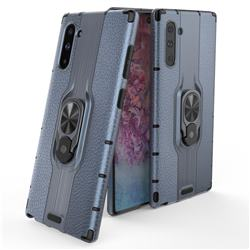 Alita Battle Angel Armor Metal Ring Grip Shockproof Dual Layer Rugged Hard Cover for Samsung Galaxy Note 10 (6.28 inch) / Note10 5G - Blue