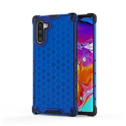 Honeycomb TPU + PC Hybrid Armor Shockproof Case Cover for Samsung Galaxy Note 10 (6.28 inch) / Note10 5G - Blue