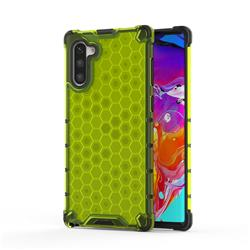 Honeycomb TPU + PC Hybrid Armor Shockproof Case Cover for Samsung Galaxy Note 10 (6.28 inch) / Note10 5G - Green