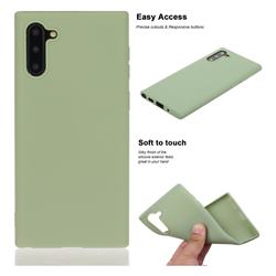 Soft Matte Silicone Phone Cover for Samsung Galaxy Note 10 (6.28 inch) / Note10 5G - Bean Green