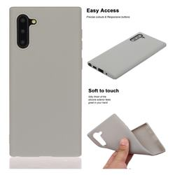 Soft Matte Silicone Phone Cover for Samsung Galaxy Note 10 (6.28 inch) / Note10 5G - Gray