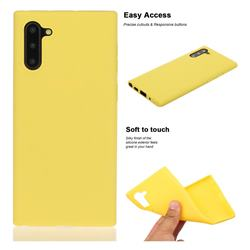 Soft Matte Silicone Phone Cover for Samsung Galaxy Note 10 (6.28 inch) / Note10 5G - Yellow