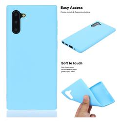 Soft Matte Silicone Phone Cover for Samsung Galaxy Note 10 (6.28 inch) / Note10 5G - Sky Blue