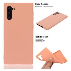 Soft Matte Silicone Phone Cover for Samsung Galaxy Note 10 (6.28 inch) / Note10 5G - Coral Orange