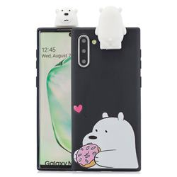 Big White Bear Soft 3D Climbing Doll Stand Soft Case for Samsung Galaxy Note 10 (6.28 inch) / Note10 5G