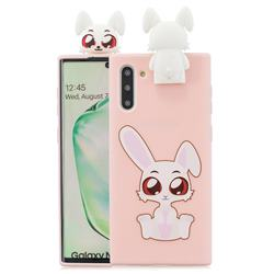 Cute Rabbit Soft 3D Climbing Doll Stand Soft Case for Samsung Galaxy Note 10 (6.28 inch) / Note10 5G