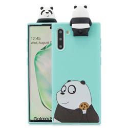Striped Bear Soft 3D Climbing Doll Stand Soft Case for Samsung Galaxy Note 10 (6.28 inch) / Note10 5G