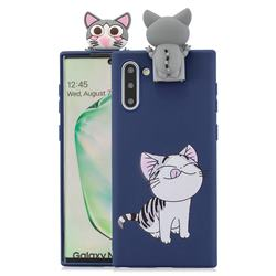 Grinning Cat Soft 3D Climbing Doll Stand Soft Case for Samsung Galaxy Note 10 (6.28 inch) / Note10 5G