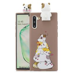 Hamster Family Soft 3D Climbing Doll Stand Soft Case for Samsung Galaxy Note 10 (6.28 inch) / Note10 5G