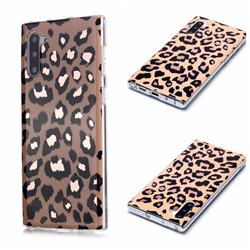 Leopard Galvanized Rose Gold Marble Phone Back Cover for Samsung Galaxy Note 10 (6.28 inch) / Note10 5G