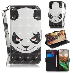 Angry Bear 3D Painted Leather Wallet Phone Case for Samsung Galaxy Note 10 (6.28 inch) / Note10 5G