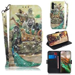 Beast Zoo 3D Painted Leather Wallet Phone Case for Samsung Galaxy Note 10 (6.28 inch) / Note10 5G