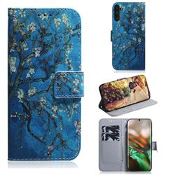 Apricot Tree PU Leather Wallet Case for Samsung Galaxy Note 10 (6.28 inch) / Note10 5G