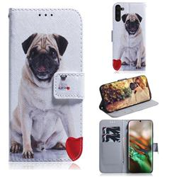 Pug Dog PU Leather Wallet Case for Samsung Galaxy Note 10 (6.28 inch) / Note10 5G