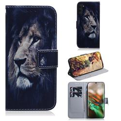 Lion Face PU Leather Wallet Case for Samsung Galaxy Note 10 (6.28 inch) / Note10 5G