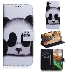 Sleeping Panda PU Leather Wallet Case for Samsung Galaxy Note 10 (6.28 inch) / Note10 5G