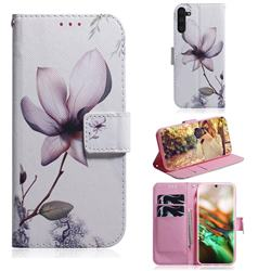 Magnolia Flower PU Leather Wallet Case for Samsung Galaxy Note 10 (6.28 inch) / Note10 5G