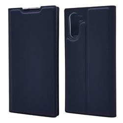 Ultra Slim Card Magnetic Automatic Suction Leather Wallet Case for Samsung Galaxy Note 10 (6.28 inch) / Note10 5G - Royal Blue